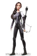 Коллекционная кукла Барби:  Голодные игры - И вспыхнет Пламя Китнисс - Hunger Games: Catching Fire Katniss Doll