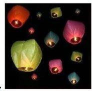 Небесные фонарики - 10 шт разных цветов
