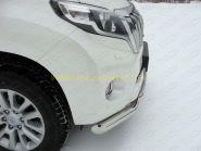 Защита переднего бампера 76х75 мм двойная овальная (TOYLCPR15013-01) для Toyota Land Cruiser Prado 150 2013 -