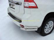 Защита заднего бампера уголки двойные 76х42 мм (TOYLCPR15013-04) для Toyota Land Cruiser Prado 150 2013 -