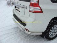 Защита заднего бампера уголки  76 мм (TOYLC15013-06) для Toyota Land Cruiser Prado 150 2013 -