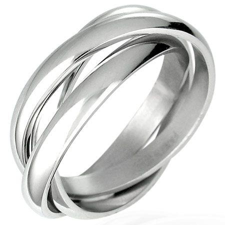 Кольцо тройное