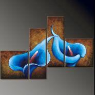 """Картина маслом """"Синие каллы"""" - 4 части"""