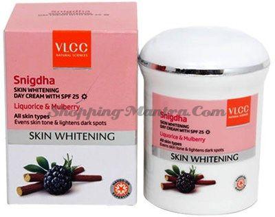 Дневной отбеливающий крем для лица с лакрицей&шелковицей VLCC (фактор защиты SPF 25)