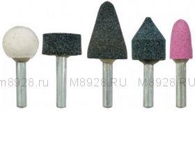 FIT 36465 Шарошки абразивные по камню мини  в наборе (5шт/3мм)