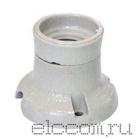 Электропатрон потолочный Е-27 (прямой фланец) керамика