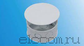 Коробка распаячная круглая с крышкой КРК 70х35 белая д/скр установки
