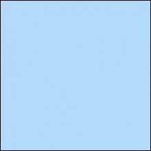 Пристенный П-профиль к рейке ППР-084, голубой