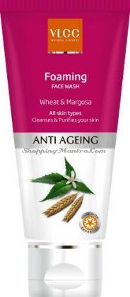 Омолаживающий гель для умывания с экстрактом коры ним&пшеницы VLCC Anti Ageing Face Wash