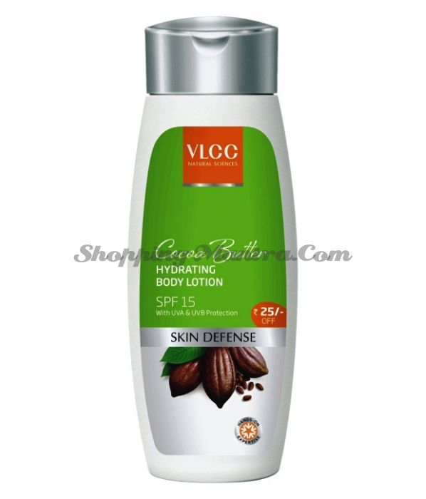 Увлажняющий лосьон для тела Масло Какао SPF15 VLCC Cocoa Butter Hydrating Body Lotion