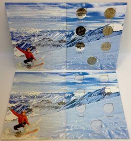 Альбом  для хранения  монет Олимпиада Сочи 2014 из недрагоценных металлов (для 7 монет) Новинка!