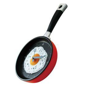 Настенные часы в форме сковородки с яичницей