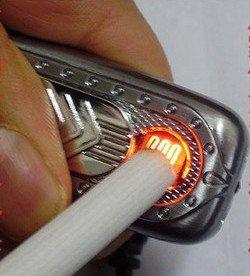 Экологичная USB-зажигалка с детектором валют