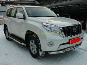 Зашита штатного порога 63 мм для Toyota Land Cruiser Prado 150