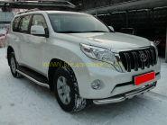 Зашита штатного порога 63 мм для Toyota Land Cruiser Prado 150