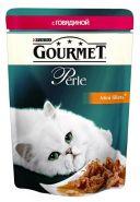 Gourmet Perle - Кусочки в подливе с говядиной (85 г)