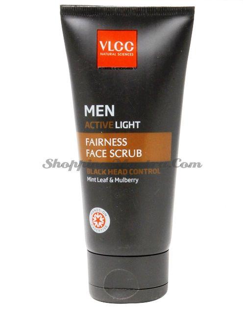 Очищающий скраб для мужчин VLCC Men Active Light Face Scrub