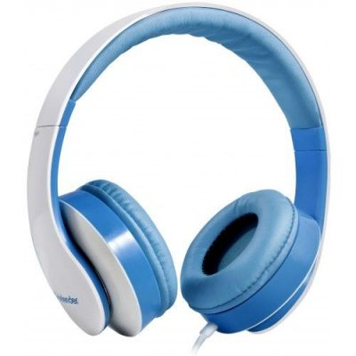 Гарнитура для смартфонов Accord 168 белый + голубой, кабель 1,2 м