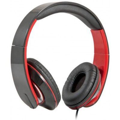 Гарнитура для смартфонов Accord 169 черный + красный, кабель 1,2 м