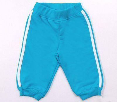Теплые бирюзовые брюки на мальчика