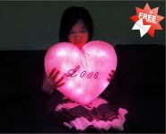Светящаяся подушка в виде сердечка