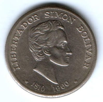 50 сентаво 1960 г. редкий год 150 лет революции Колумбия