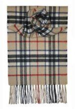 кашемировый шарф (100% драгоценный кашемир) , расцветка  клан Томсон Thomson Camel, плотность 7