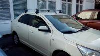 Багажник на крышу Chevrolet Cobalt, Атлант, аэродинамические дуги