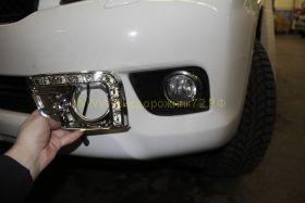 Заглушки в противотуманные фары с ходовыми огнями для Toyota Land Cruiser Prado 2010
