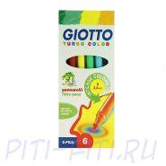 Giotto Turbocolor. Фломастеры, 6 цветов