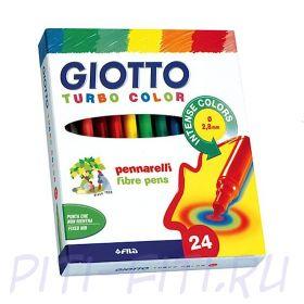Giotto Turbocolor. Фломастеры, 24 цвета