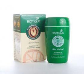 Скраб для лица с грецким орехом для сухой и нормальной кожи (Bio Walnut,  BIOTIQUE) 50г