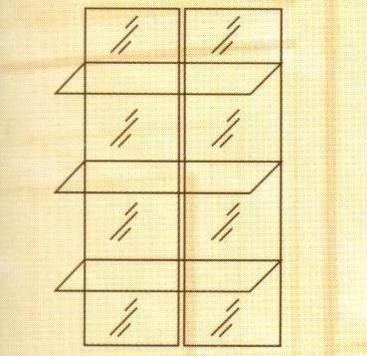 №140. Зеркальные полки для модуля 110