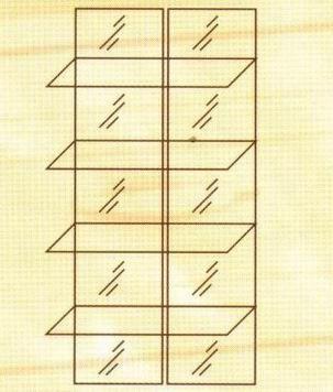 №141. Зеркальные полки для модуля 108, 169, 170