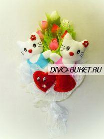 """Букет из игрушек №233-2к """" Крошки Кити"""""""
