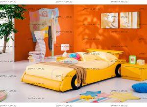 Кровать кожаная AE006 Татами