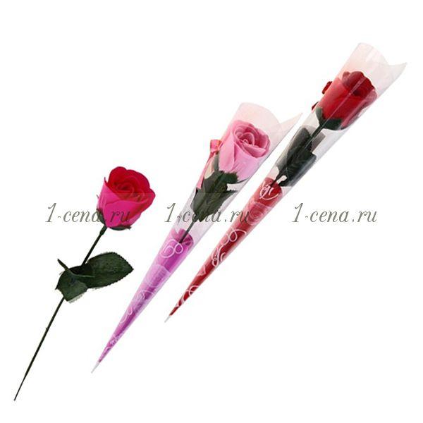 Подарочный цветок из мыльных лепестков РОЗА.