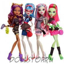Коллекционные куклы Монстр Хай, сет из 4-х кукол Ночь Монстров - Monster High Ghouls Night Out - Set of 4