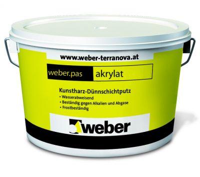 Weber pas akrylat декоративная акриловая штукатурка (25 кг)