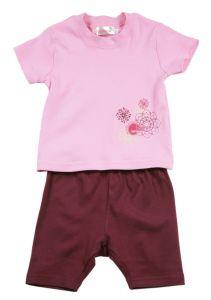 Комплект, шорты и майка розовый 9770