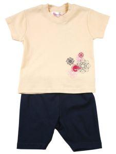 Комплект, желтый, шорты и майка 9770