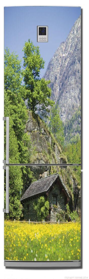 наклейки на холодильник - Дом в горах