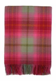 Плед, 100 % стопроцентная шотландская овечья шерсть, расцветка Лепесток Лилии Lilliesleaf