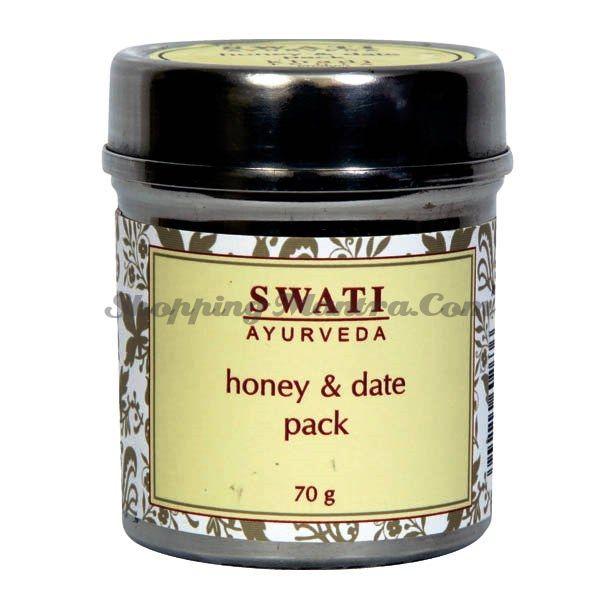 Питательная маска для лица Мед&Финики Свати Аюрведа / Swati Ayurveda Honey&Dates Face Pack