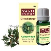 Натуральное эфирное масло Кедр Свати Аюрведа (Swati Ayurveda Cedarwood Essential Oil)