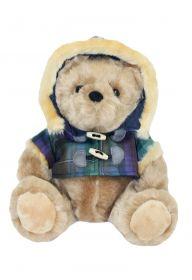 Шотландский плюшевый медведь в тартановом пальто-мистер  Гамильтон с острова Скай