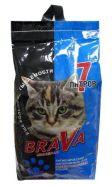BraVa Впитывающий минеральный наполнитель для длинношерстных кошек (7 л)