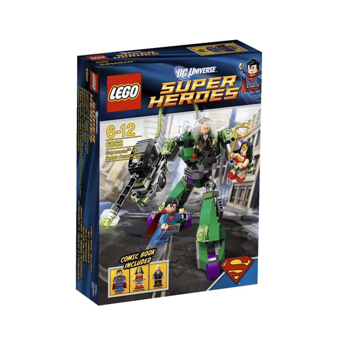6862 Супермен: Супермэн против Лекса Лютора Конструктор ЛЕГО Супергерои