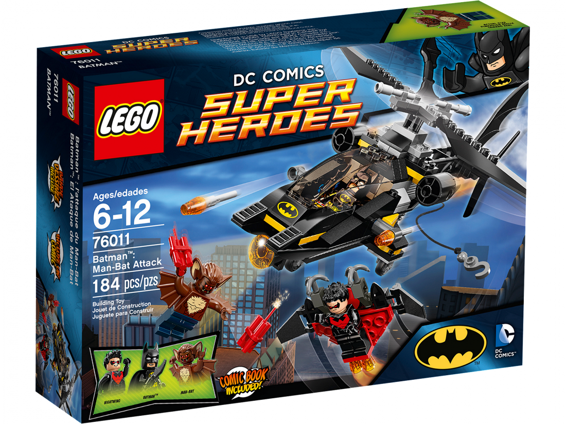 76011 Бэтмэн: Атака Человека-Летучей Мыши Конструктор ЛЕГО Супергерои