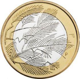 Ветка Сосны 5 евро Финляндия 2014 Серия «Северная природа» (Wilderness)